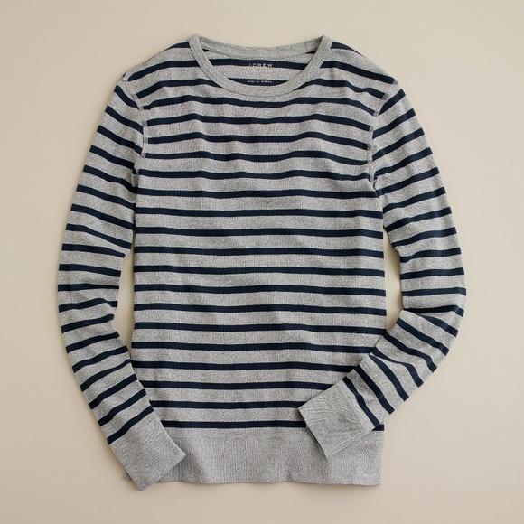 J. Crew Factory Other - J. Crew Factory Marled Long Sleeve Stripe Tee